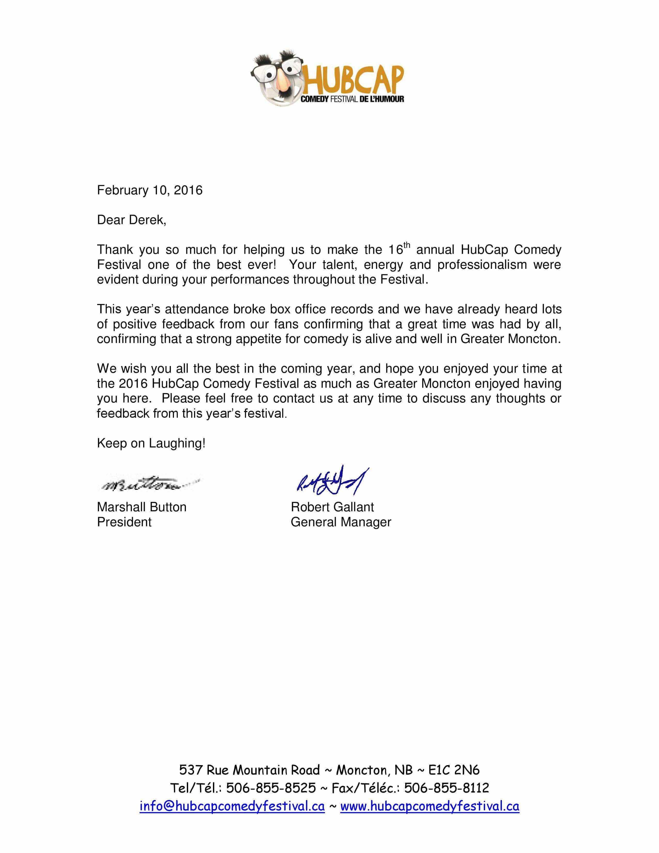 2016 thank you letter Seguin - Derek Seguin